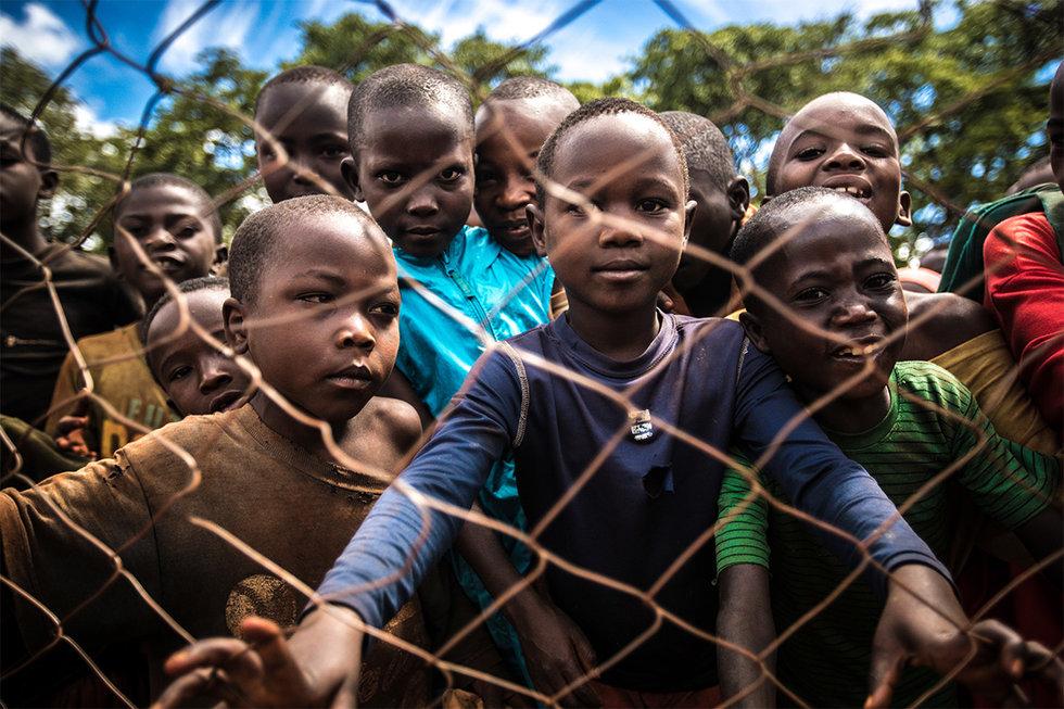 Group of kids in Burundi, Tanzania