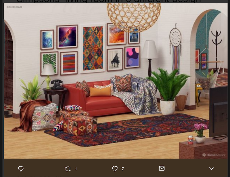 This Is What The Simpsons Living Room Would Look Like In Real Life