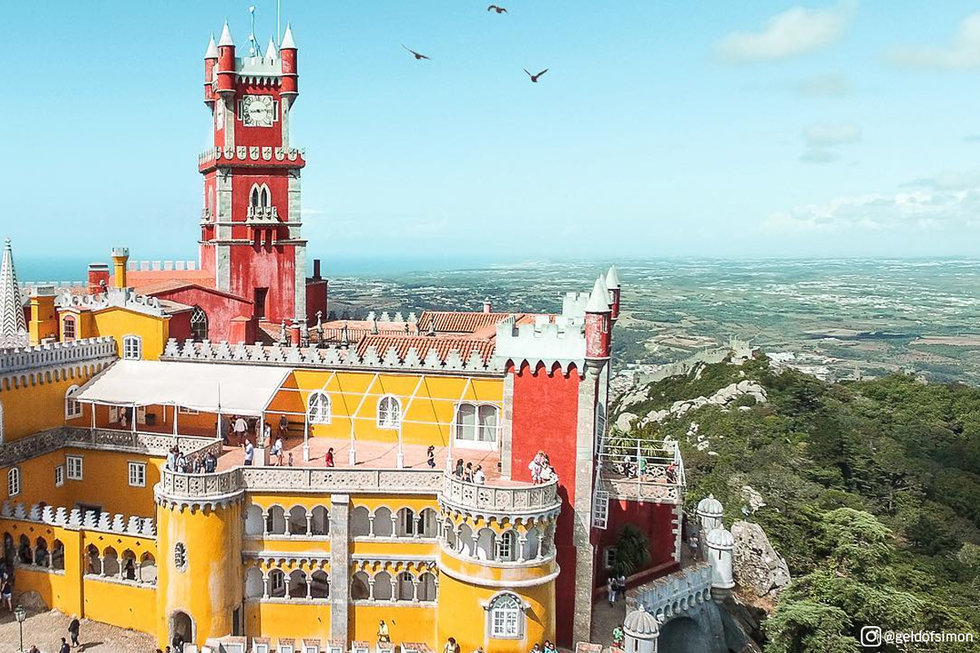 Aerial view of Pena Palace