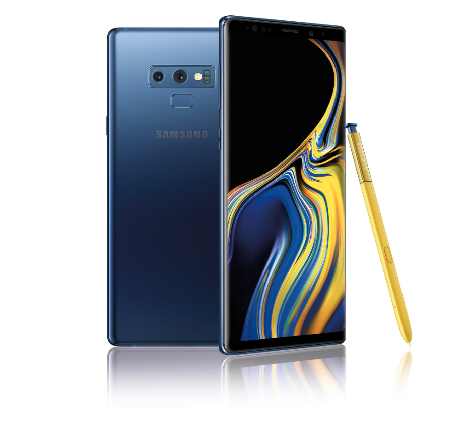 Galaxy Note 9 smartphone by Samsung.