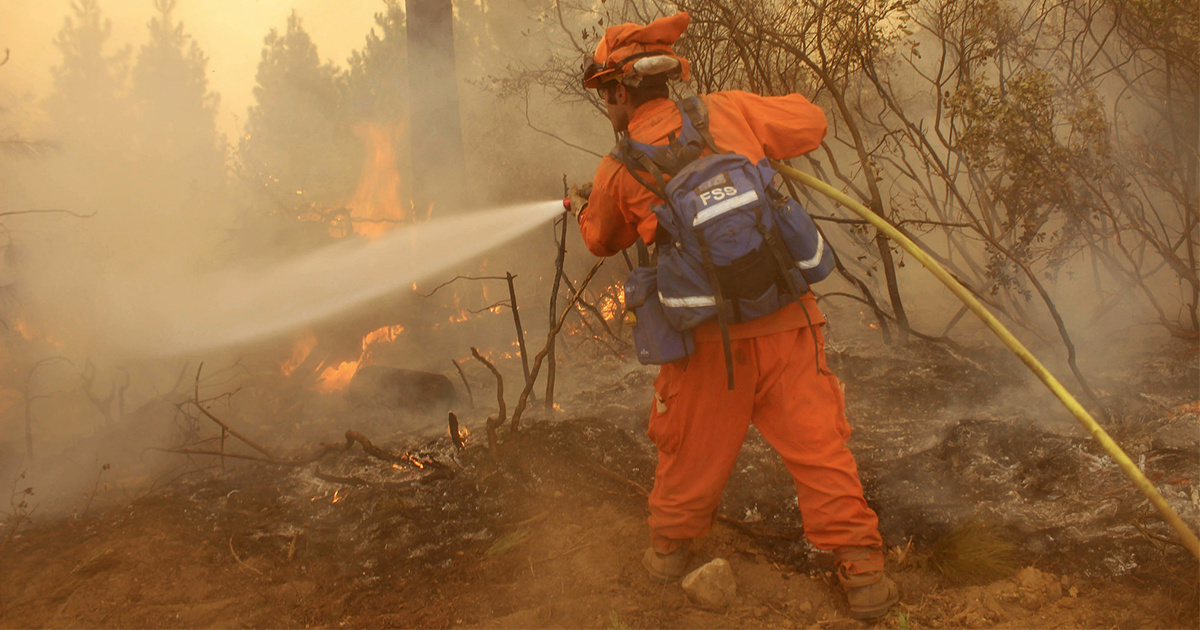 photo image Prison Inmates Fighting California's Deadly Fires