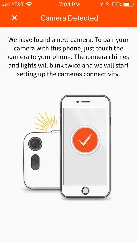 Ooma Butterfleye app will notify you when your Ooma Butterfleye camera is detected.