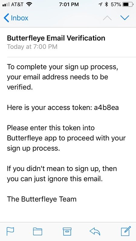 You will need to verify your email address to set up an account.