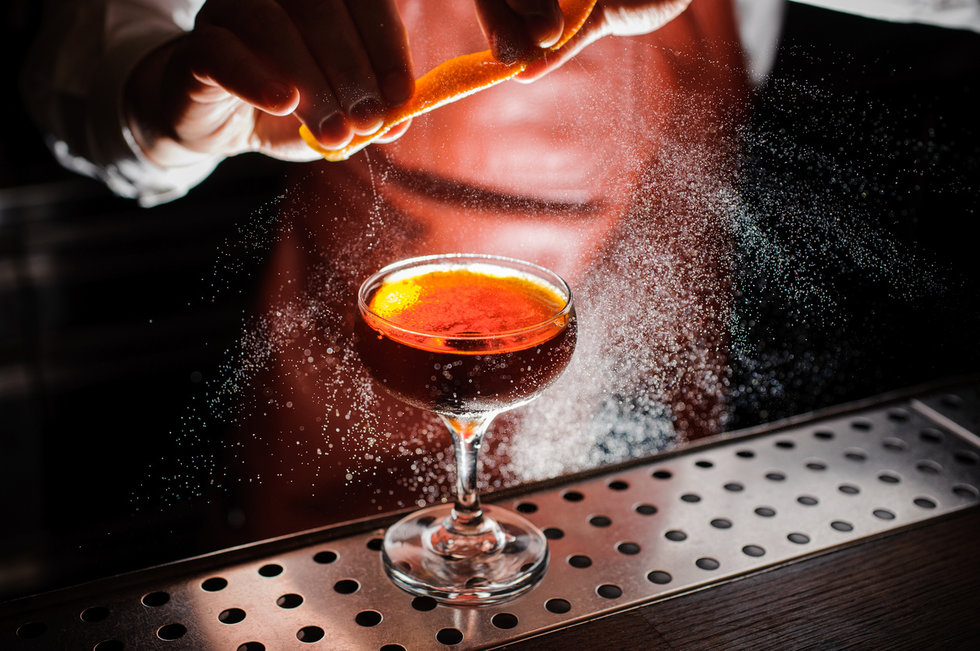 Picture of bartender making a drink