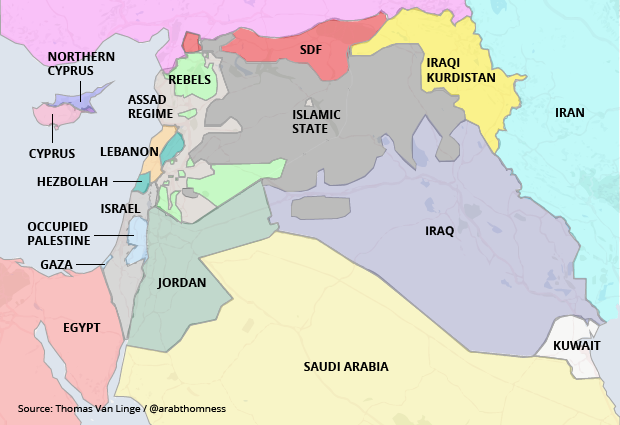 A Real Map of the Middle East - Big Think