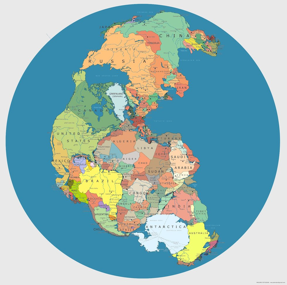 611 - Our One-Continent World: Pangea (Political) - Big Think