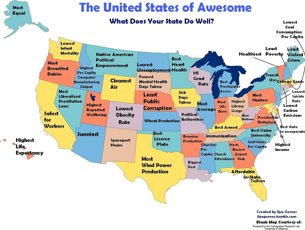 Picture of: What Every State In America Is Best At And Worst At Big Think