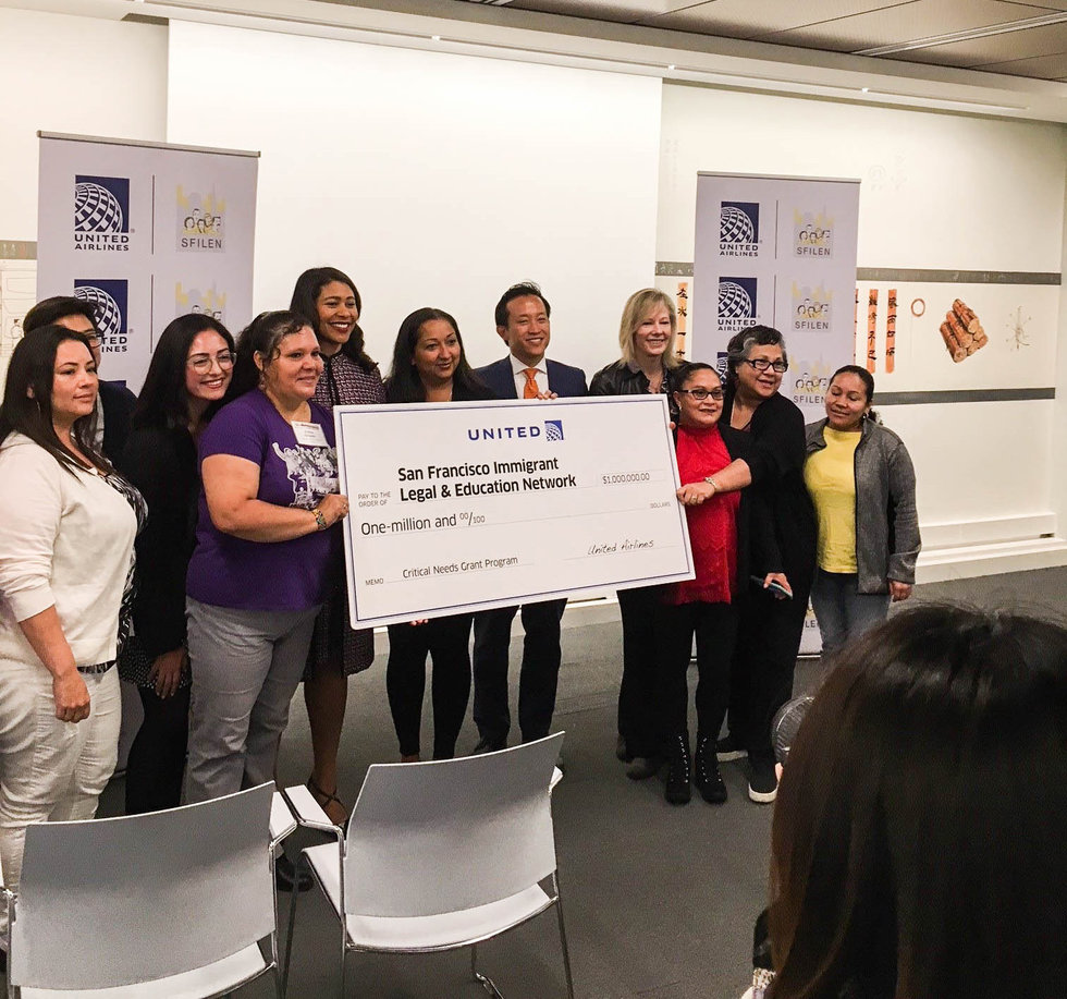 a $1 million grant to the San Francisco Immigrant Legal & Education Network