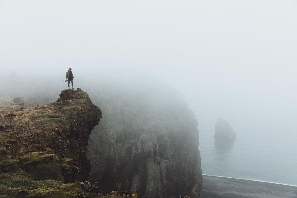 Dyrh\u00f3laey cliff