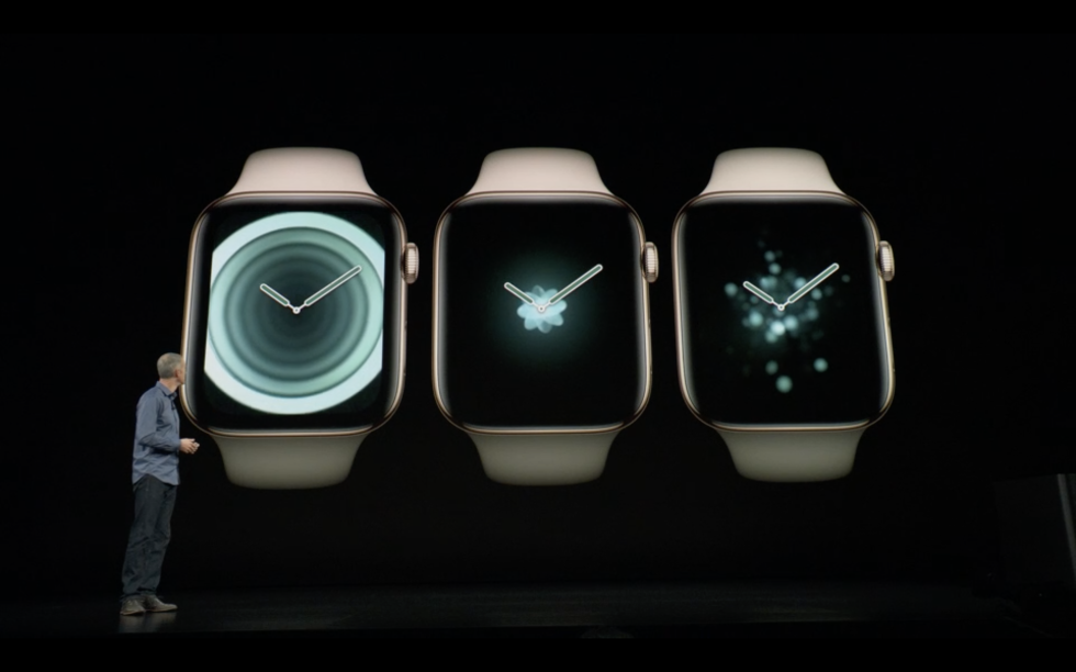 picture of apple watch 4 during press conference presentation