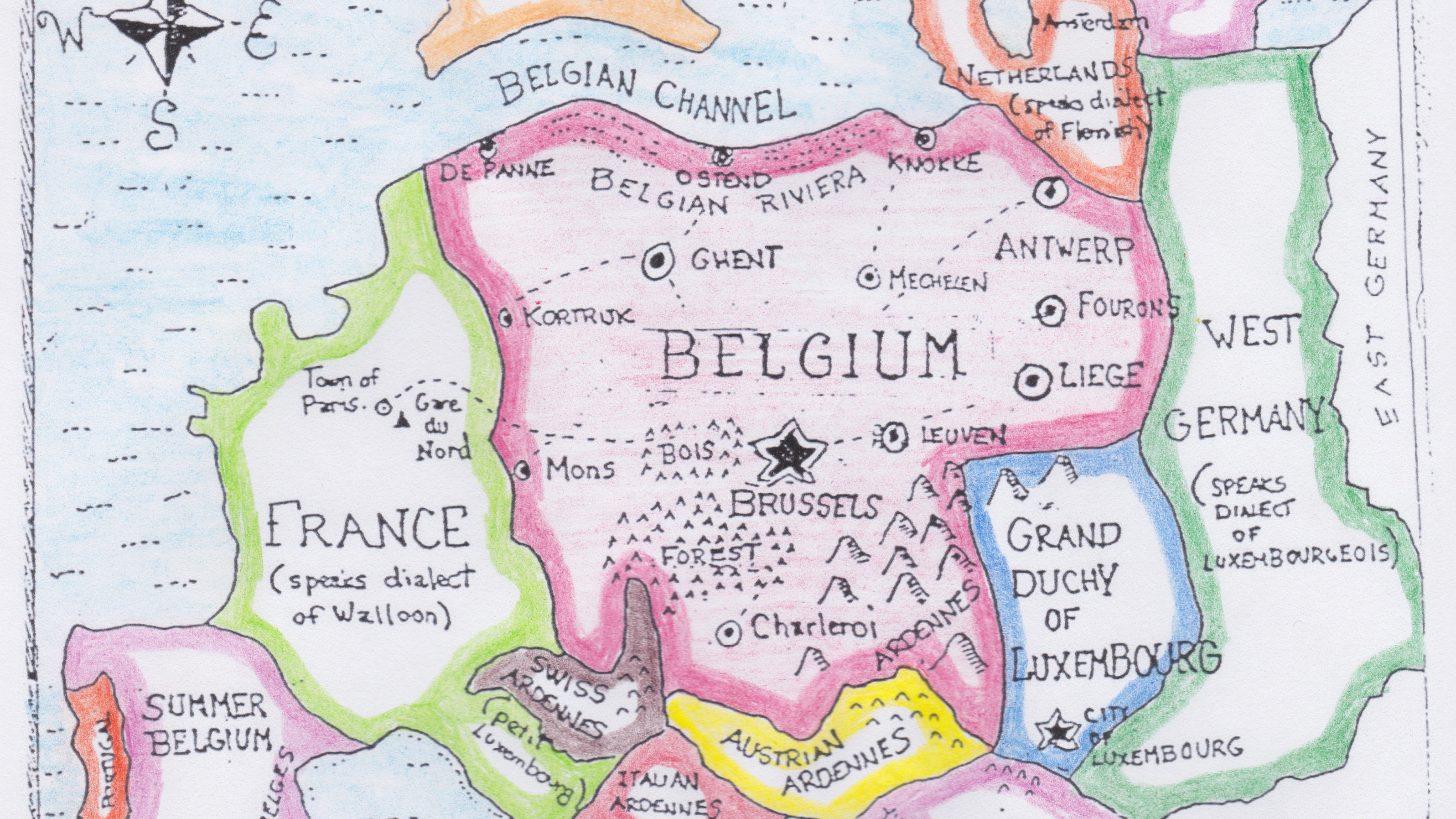How Belgium Plans to Take Over Europe - Big Think on heligoland germany map, bismarck germany map, saale germany map, greece germany map, hohenzollern germany map, spa germany map, unesco germany map, argentina germany map, finland germany map, east prussia germany map, world war one germany map, ardennes germany map, ghent germany map, alps germany map, frisian islands germany map, algeria germany map, ems germany map, lithuania germany map, romania germany map, soviet germany map,