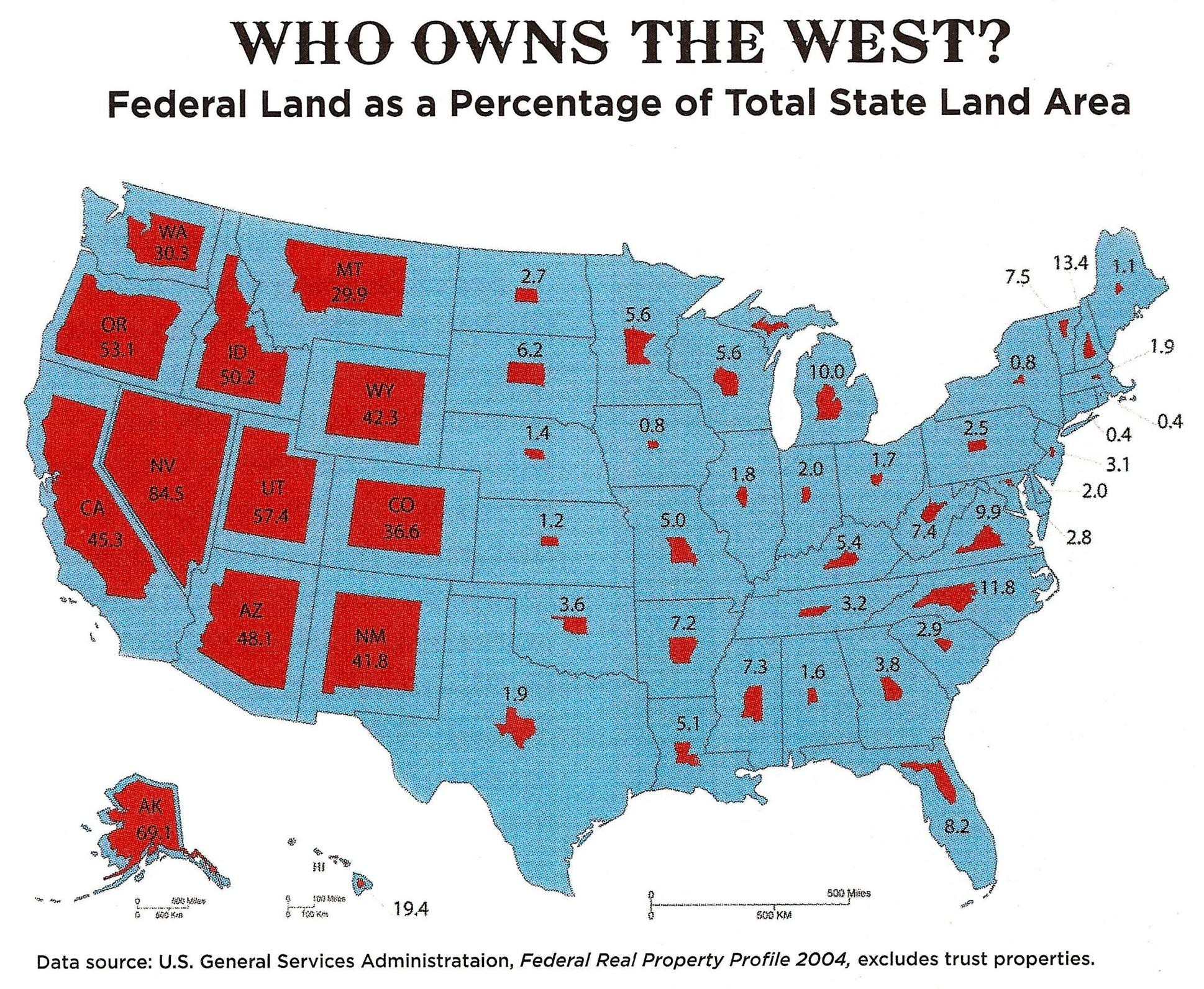 Map Of Us Federal Lands Just How Much Land Does the Federal Government Own — and Why