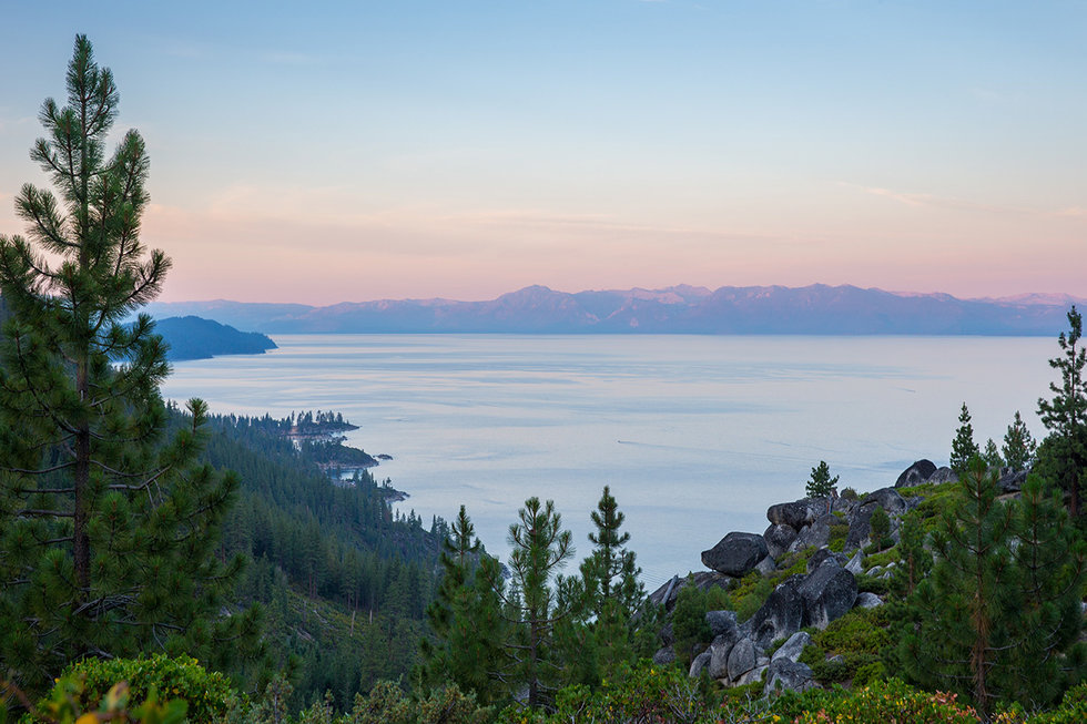 Lake Tahoe at dawn