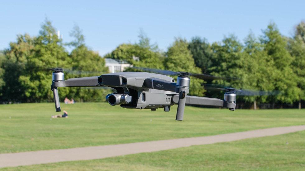 DJI mavic z zoom drone flying