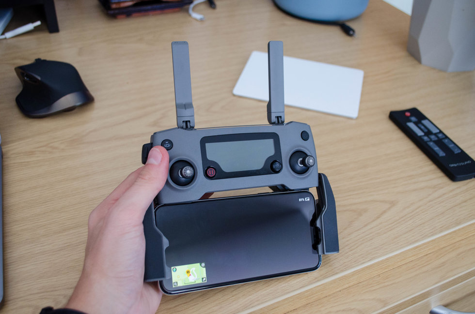 Picture of DJI drone controller