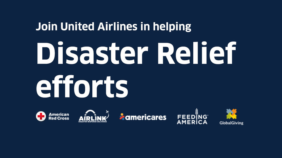 United Airlines launches online campaign to help disaster reliefs efforts