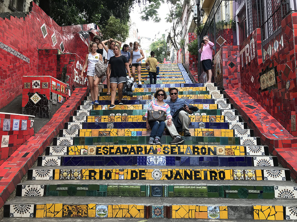 Colorful steps in Rio