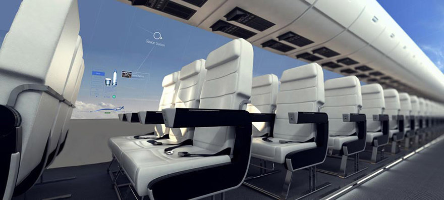 Image result for Windowless planes will give passengers a panoramic view of the sky