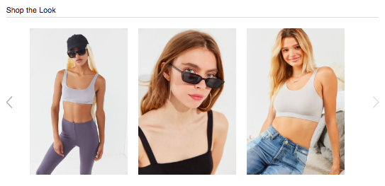 look are actually just everyday urban outfitters merchandise the page also links to shoppers to nearly identical non costume sports bra and leggings
