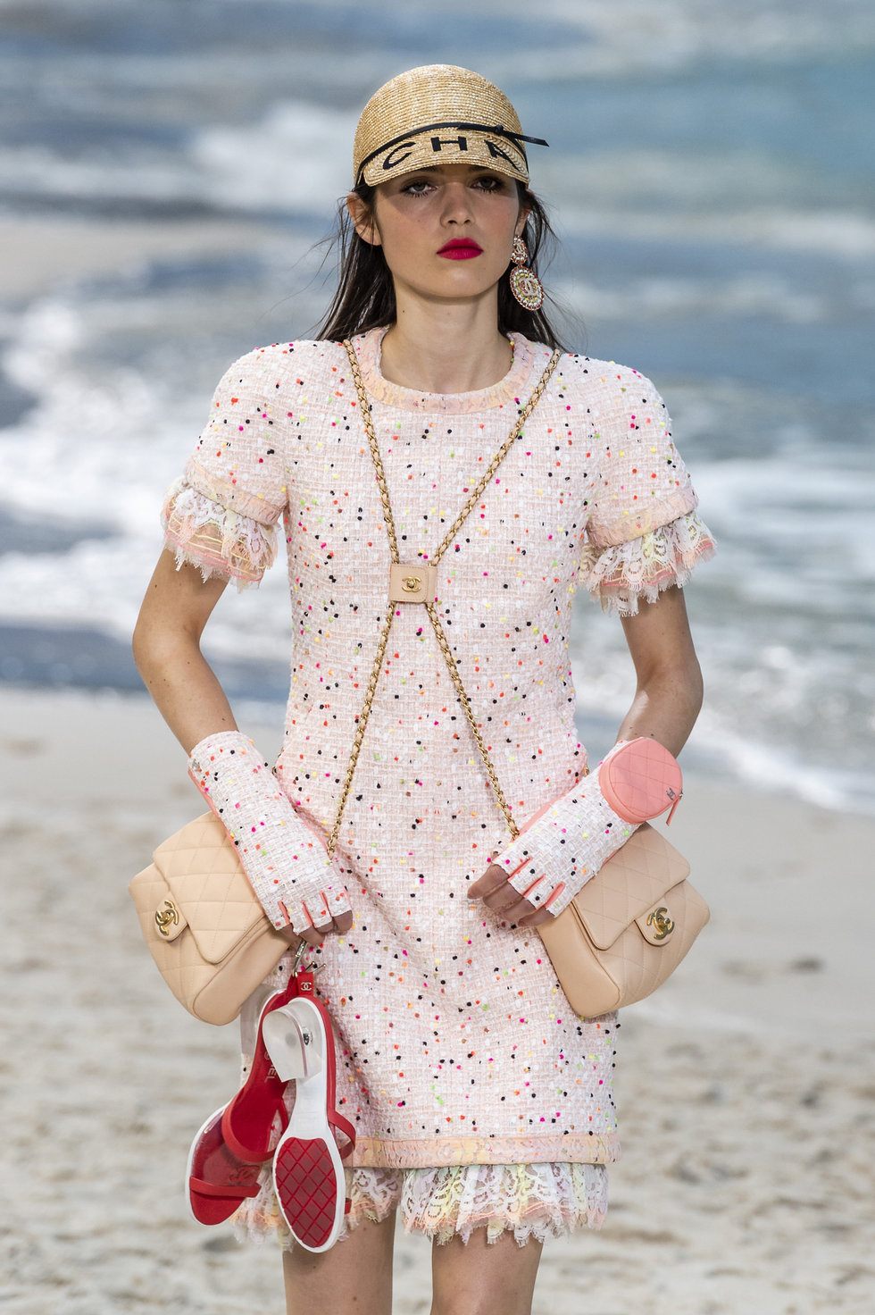 9228d033a939aa Karl Lagerfeld Built A Beach For Chanels Spring Show Paper