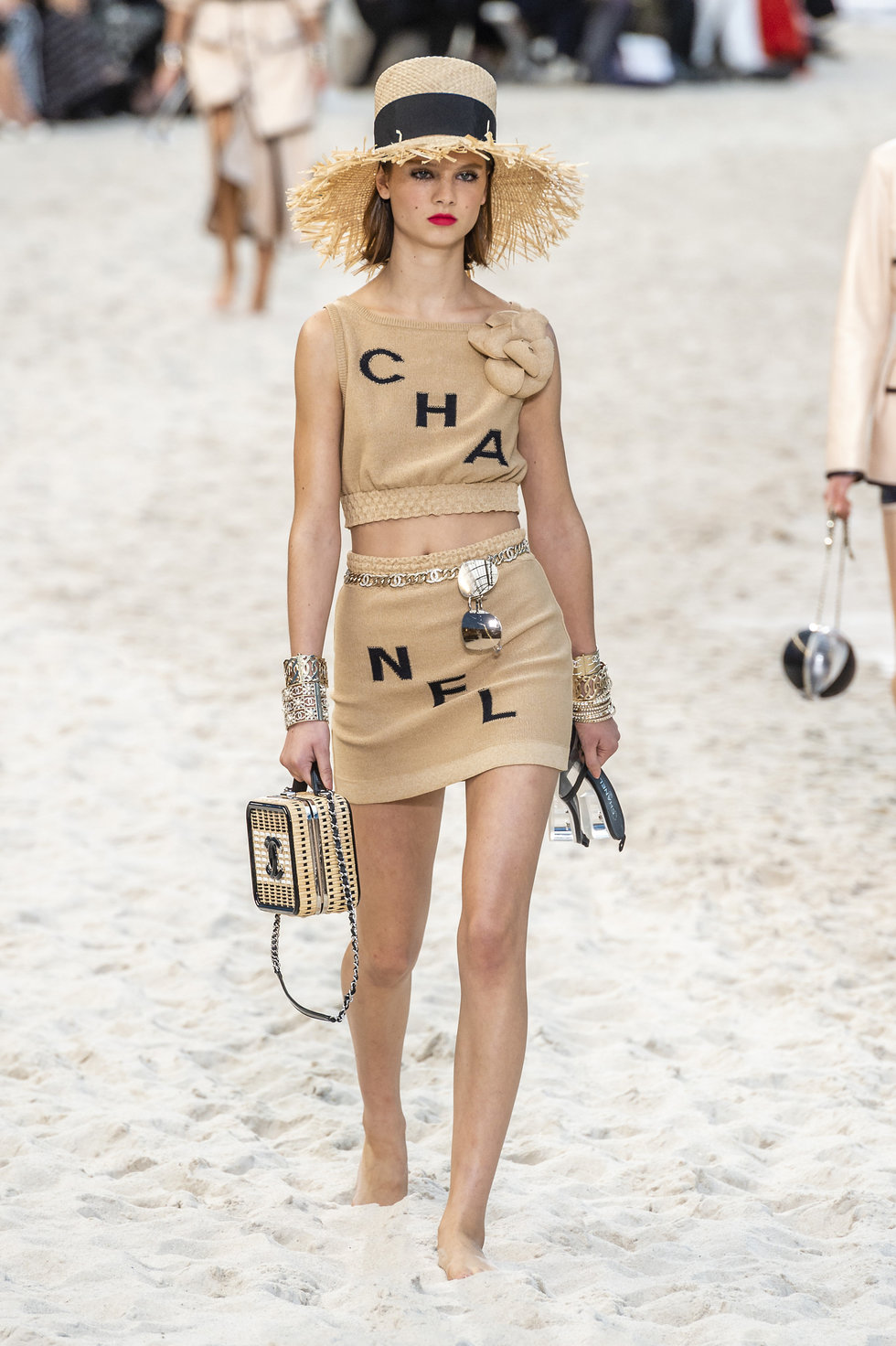 Karl Lagerfeld Built A Beach For Chanel S Spring Show Paper