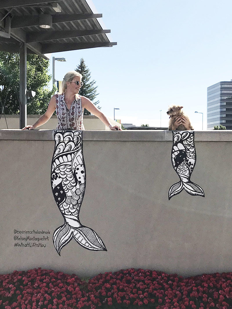 Kelsey's mermaid mural