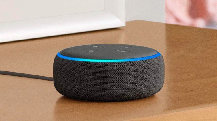 Picture of Echo Dot (3rd Gen) on a table.