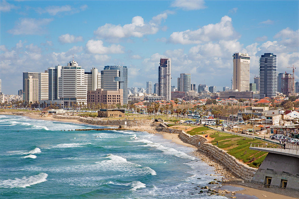 Outlook to the water and the city of Tel Aviv