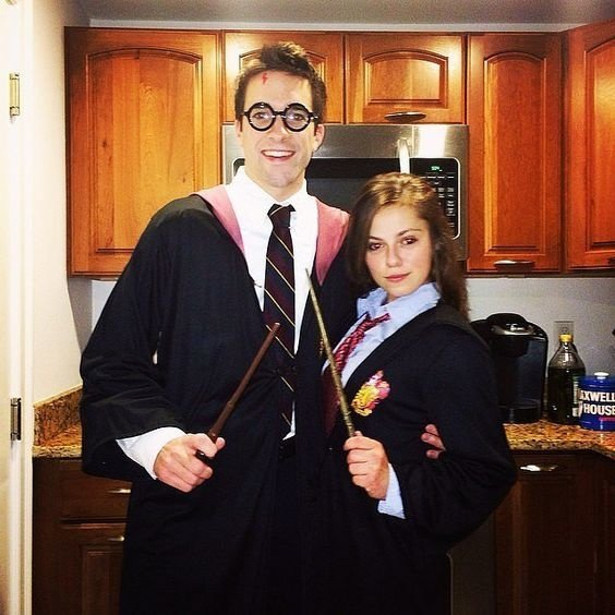 Harry and Hermione costume