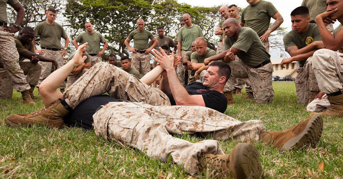 marines on ground training