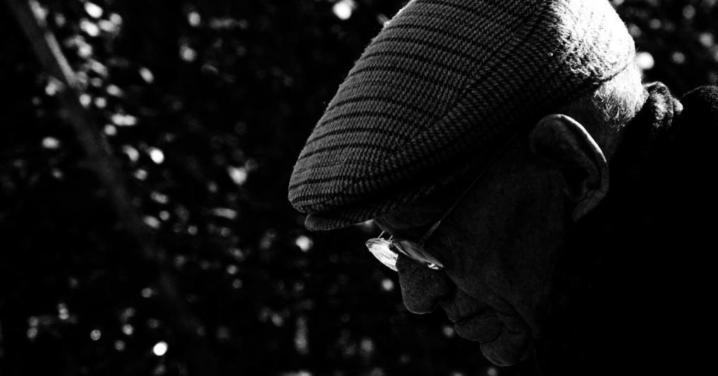 old man in shadows