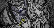 bluebeard giving key to wife