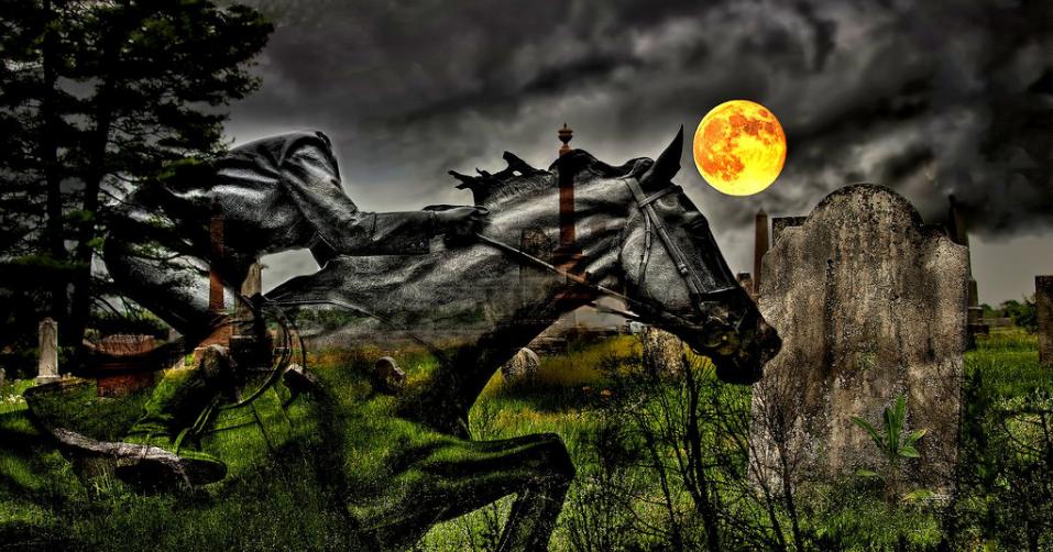 headless horseman full moon cemetery