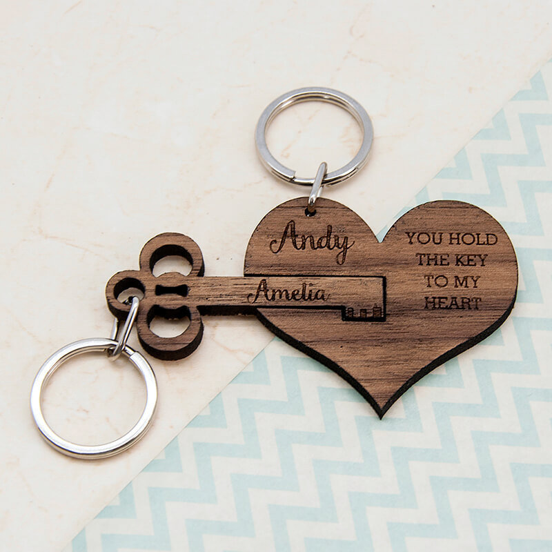 Prezzybox Key To My Heart Ring Set