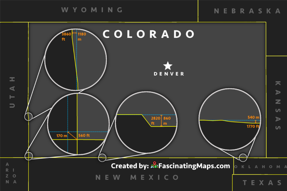 Map of the state of Colorado.