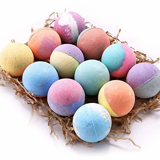 Anjou 12 Bath Bombs Set, lush Fizzy Spa Set Includes Natural Essential Oils for Bubble Bath, Birthday Mothers Day Gifts Idea For Her/Him