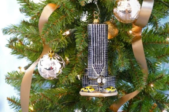 ... Trump ornaments. The photos feature a helicopter, a golf bag, and a miniature Trump Tower to help you celebrate the birth of Jesus of Nazareth.