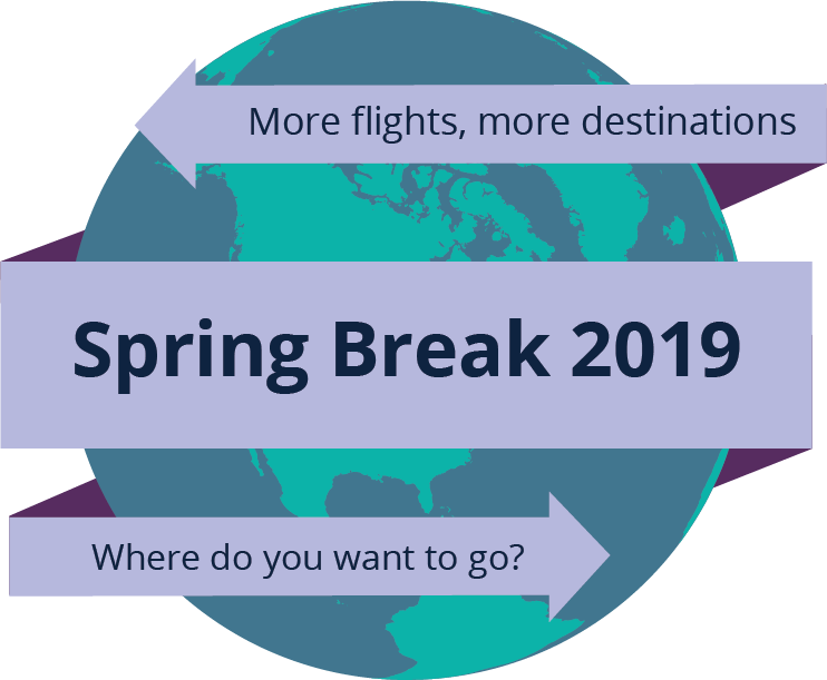 Spring Break 2019 - More flights, more destinations - Where do you want to go?