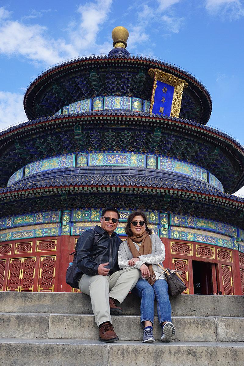 Exploring many sites in Beijing