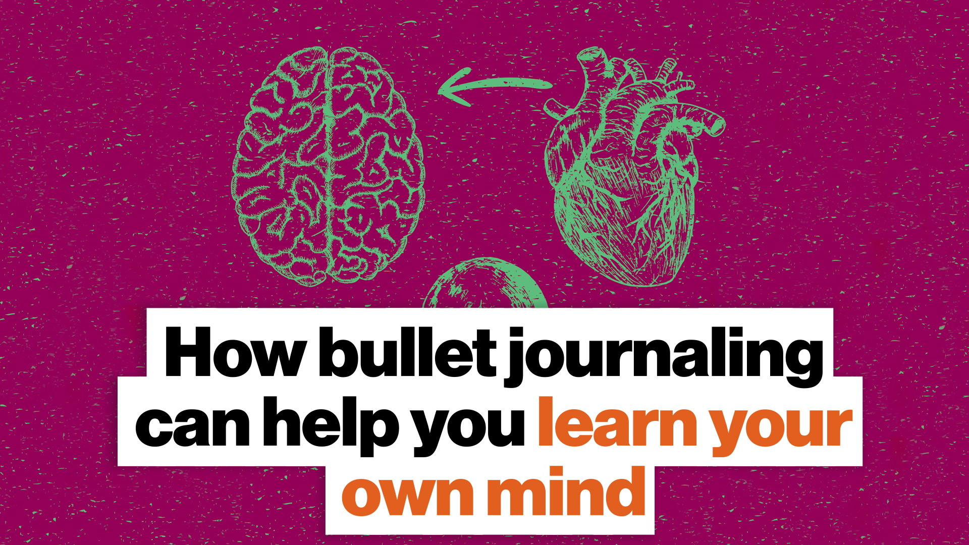 Understand your own mind and goals via bullet journaling