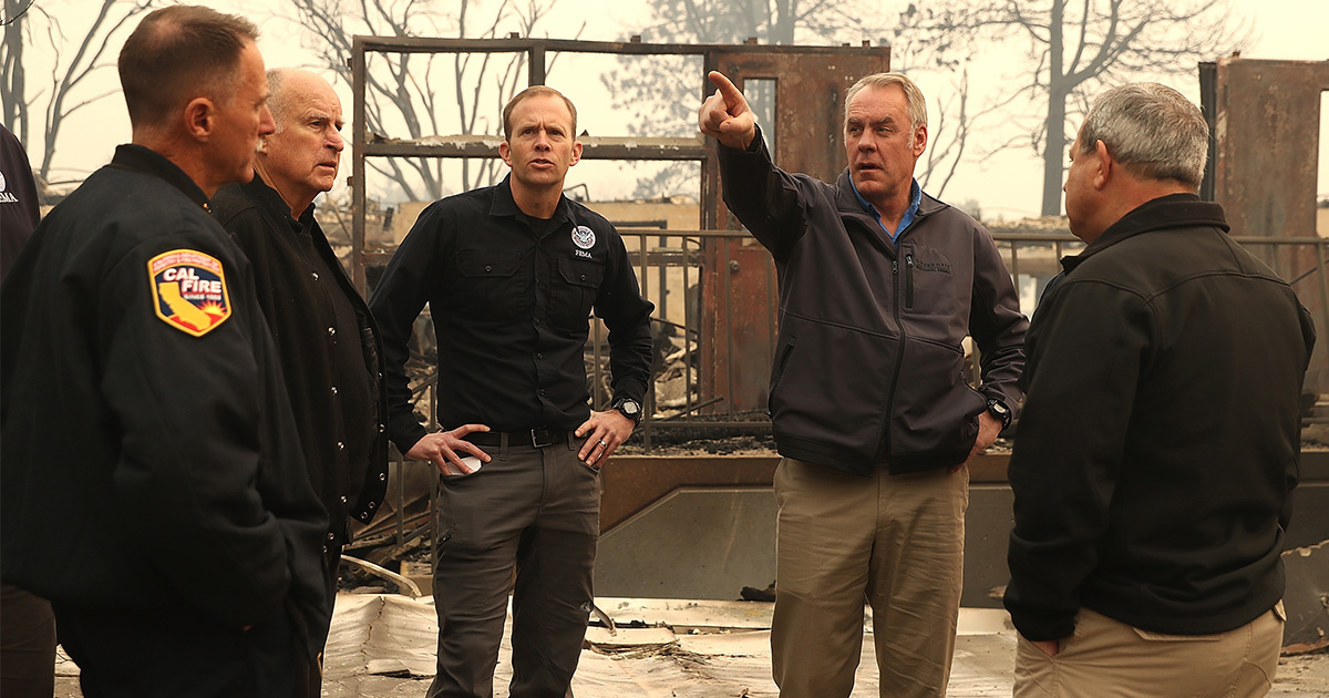 Zinke Blames 'Radical Environmentalists' for Historic California Wildfire
