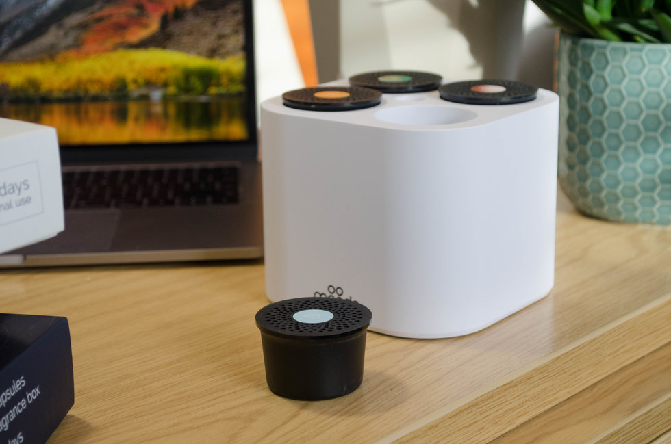Picture of Smart Home Fragrance Box on a desk