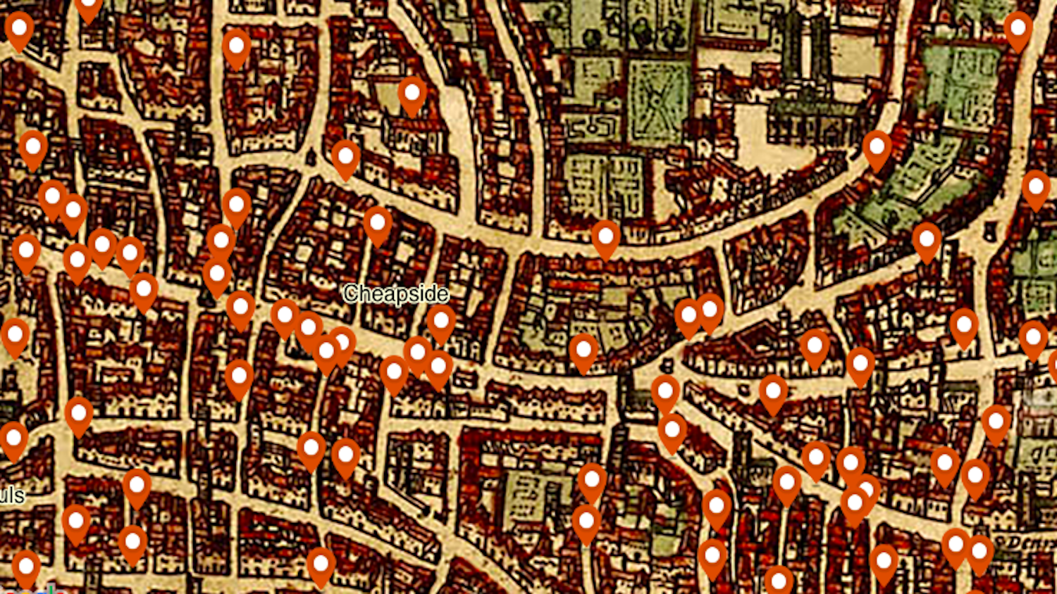 Map shows homicide hotspots in medieval London