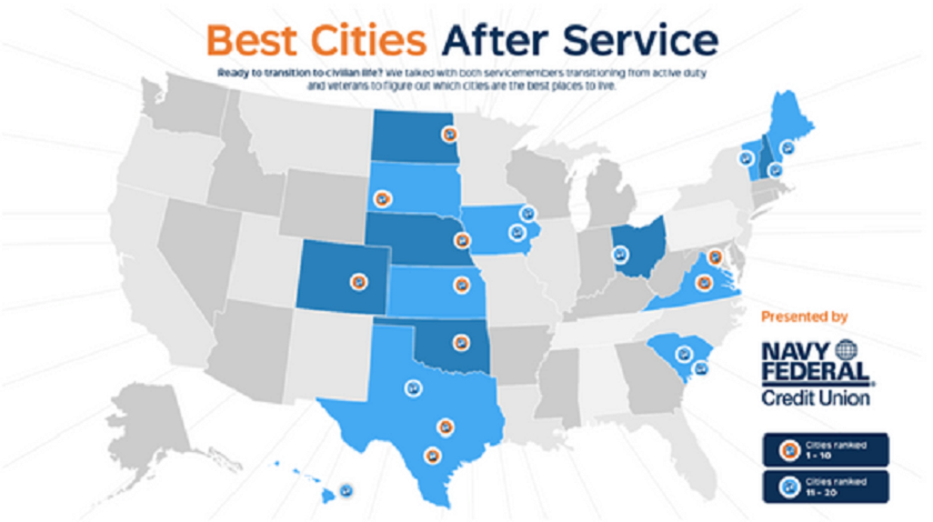 The 20 Best Cities For Veterans To Live In