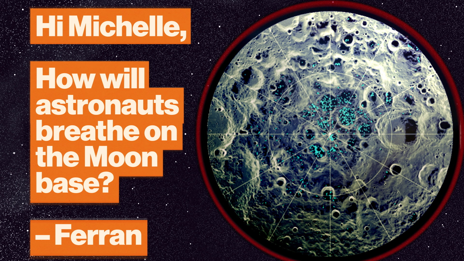 How the Moon's ice craters will power a human colony