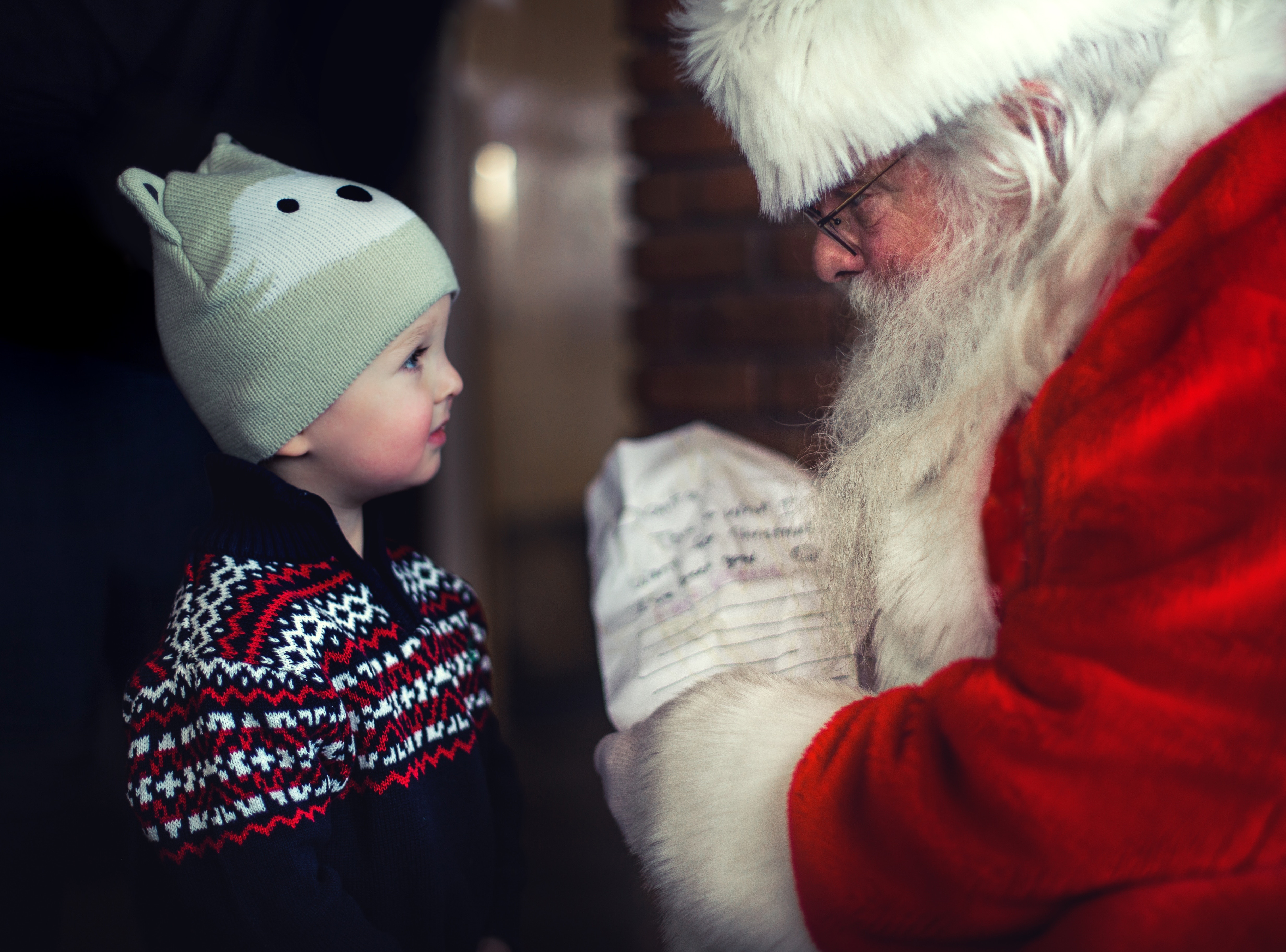 30% of children received trust issues from  Santa