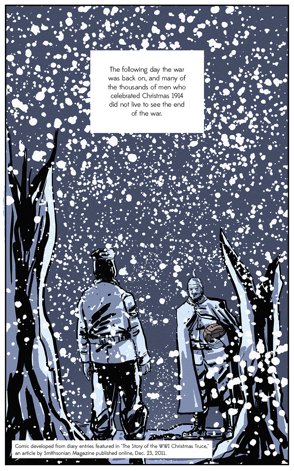 Christmas 1914.Comic The Legendary Story Of The 1914 Christmas Truce