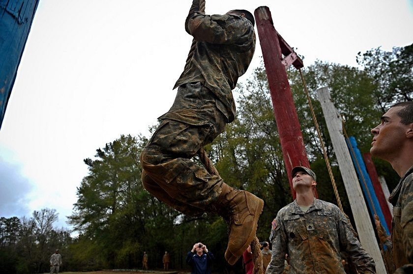 Getting pole waxed in the army now
