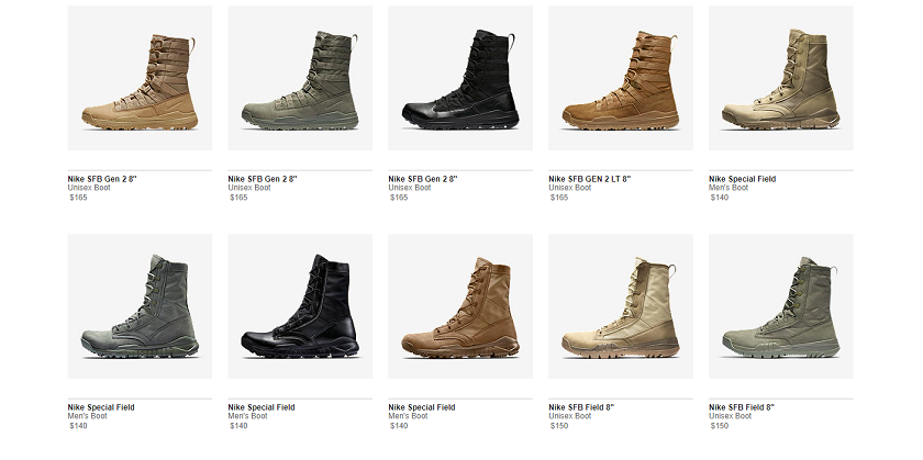"""c0d55c978ae And this is hardly the first time that a Nike brand has unveiled a  mil-themed set of kicks. Just search """"combat boot"""" on the company website  and you ll see ..."""