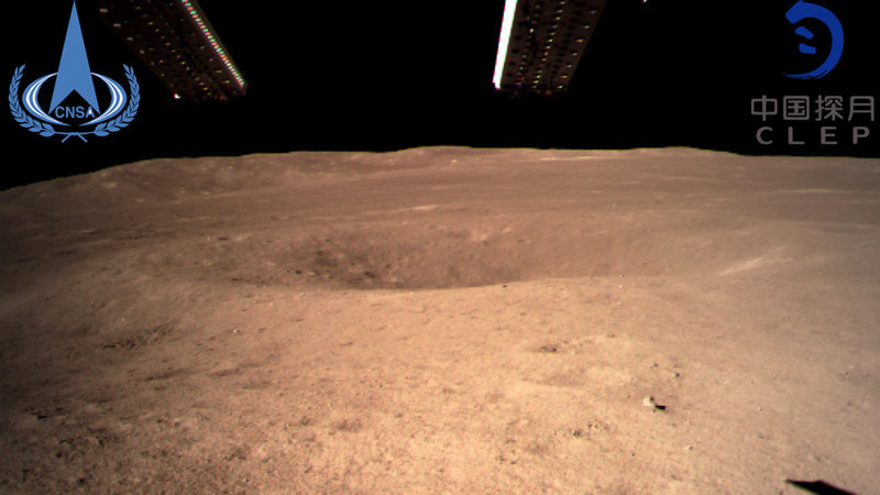 China s lunar rover nabs the first surface photos of the moon s  dark  side